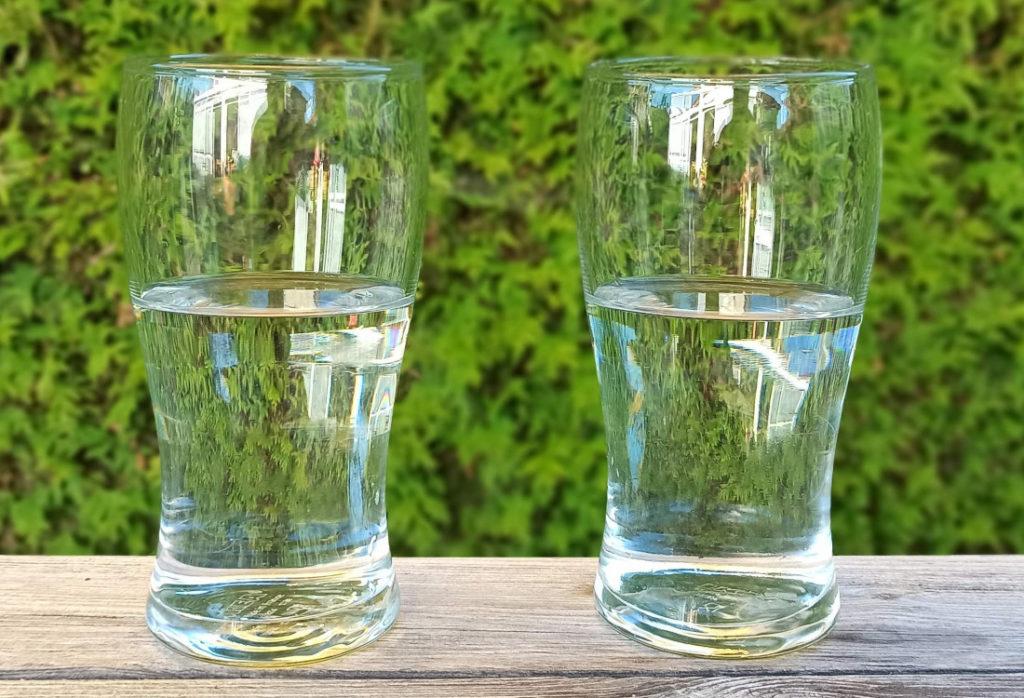 Der entscheidende Unterschied ob das Glas halb voll oder halb leer ist